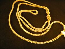 "New, Real 10k gold franco chain necklace,30"" Inch 2 mm, Rope, cuban, bracelet, N"