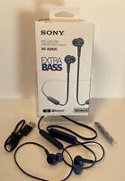 Sony WI-XB400 Extra Bass Wireless Bluetooth In-Ear Headset Earbuds W/Mic Blue