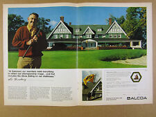 1973 Oakmont Country Club clubhouse photo ALCOA Aluminum Siding vintage print Ad