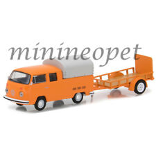 GREENLIGHT 32110 A 1978 VOLKSWAGEN TYPE 2 DOUBLE CAB PICK UP & TRAILER 1/64