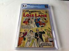 SUPERMANS GIRLFRIEND LOIS LANE 37 CGC 8.0 SUPERMAN CLARK KENT WEDDING DC COMIC