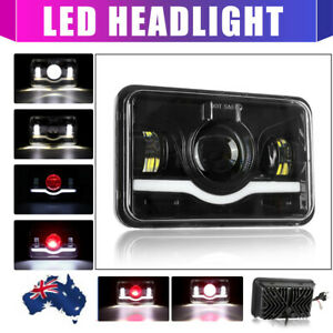 "4x6"" LED Headlight High Low Beam For FJ80 FZJ80 Toyota Landcruiser 60 80 series"