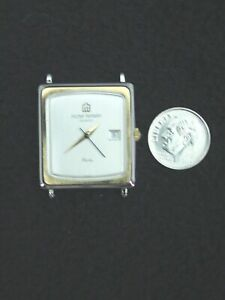 French Michel Herbelin Mens Watch Stainless 6 Jewel, no band