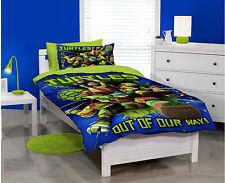 Ninja Turtles Duvet Cover Set Single Bed TMNT DUDES Kids Boy Licensed Pillowcase