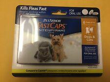PetArmor FastCaps Flea Treatment Dogs & Cats 2-25 lbs 6 Tablets - New
