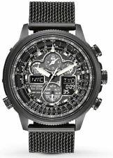 Citizen Men's Navihawk A-T Black Ion Plated Perpetual Calendar JY8037-50E Watch