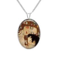 Gustav Klimt Art Pendant Necklace Sterling Silver 925 Pendant handmade boxed