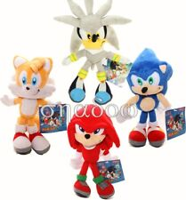 Sonic The Hedgehog Tails Knuckles the Echidna Shadow Silver Hedgehog plush doll