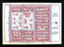 1955 Bromley New York City Map East Harlem Frawley Circle Central Park 110-116th