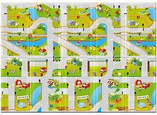 """Parklon Portable Play Mat for Baby and Toddlers Play Road Design 55""""x78""""x 0.40"""""""