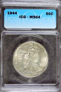 1944 - ICG MS64 Walking Liberty Half Dollar!! #B19272
