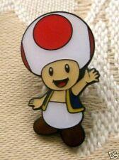 Super Mario Toad Metal Pin Badge ~Brand New~