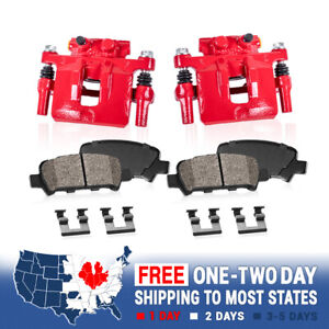 Rear Red Calipers and Brake Pads For 2001 2002 2003 Toyota Highlander AWD