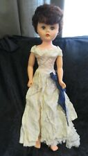 "Vintage Doll 24"" Movable Arms Legs Closing Green Eyes"