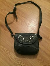 Black studded long strap bag