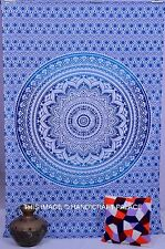 Blue Ombre Mandala Tapestry Hippie Wall Hanging Boho Bohemian Throw Home Decor