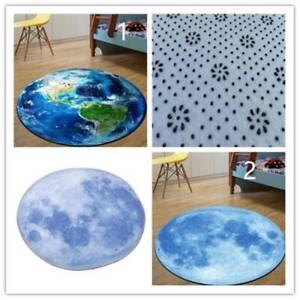 Earth Round Carpet Rug Non-skid Rug Computer Mat Children's Room Carpet Decor R