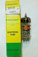 12AT7/ECC81 Amperex (Mullard Made) NOS NIB Vacuum Tube, TV-7D tested 104%+