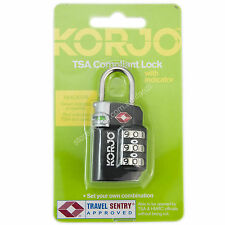 KORJO Travel Luggage Lock TSA Compliant Lock with Indicator Black TSA72