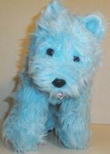"BUILD A BEAR BLUE WESTIE TERRIER PUPPY DOG 14"" PLUSH DOLL TOY RHINESTONE COLLAR"