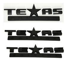 3x OEM Matte TEXAS Edition Emblems BADGE For Chevrolet SIERRA Silverado Black FU