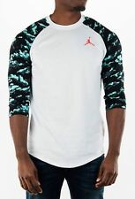 "Nike sz M Men's Jordan ""Dunk From Above""  3/4 Ragland T-Shirt NEW $50 812650 101"