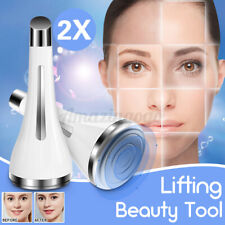 2Pcs EMS Electric Vibration Eye Face Massager Anti-Ageing Wrinkle Magnetic Tool