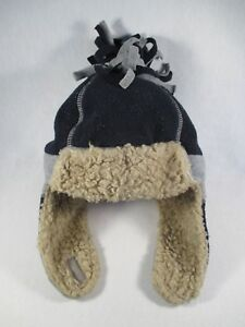 Baby Gap Winter Ski Blue Gray Beige XS/S Size Beanie Cap Hat Great Condition