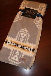 pendleton sherpa blanket throw 50x70 nwt aztec gray