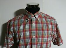 Men's Orvis Short Sleeve Button Up Shirt Plaid Size Medium
