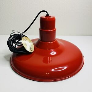 Troy Lighting Single Light Hanging Pendant in Red Farmhouse Industrial Style New
