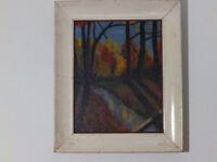 Mid Century Landscape 'MYSTIC FOREST' Impressionism Vintage Oil Painting