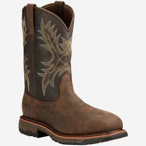 """Ariat Mens Workhog 11"""" Waterproof Composite Toe Safety Western Boots 17420--10D"""