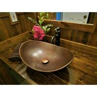 Copper Vessel Sink 19 Handmade Copper Farmhouse Countertop Vanity Hammered