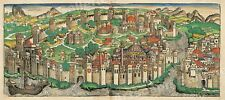 1493 Constantinople Historic Vintage Style Wall Map - 16x36