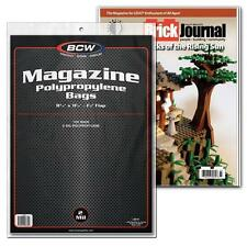 "4 Packs (400) BCW 8 3/4"" x 11 1/8"" Magazine Storage Bags Holder Sleeve"