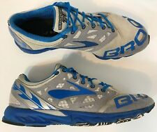 Brooks T7 Racer Women's Running Shoes Sz 7.5 Grey Blue Excellent Fast Shipping