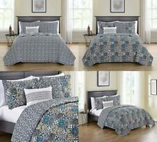 Victoria Classics Azau 5 Piece Reversible Bedding Quilt Set, Queen, Multi