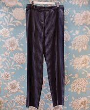 GIORGIO ARMANI Ladies Navy Pin Stripe Wide Leg Pants - Size EU44/US42