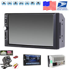 "7"" Touch Screen 2DIN Car MP5 Player FM Bluetooth Audio Stereo Radio Video+Camera"
