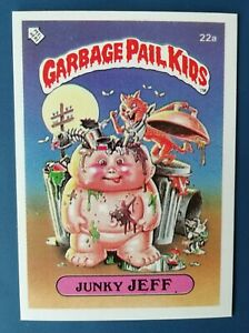 Junky Jeff 22a UK Garbage Pail Kids Series 1(1985)Topps~NMT/MINT~Pack Fresh