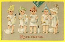 cpa Illustration en Relief MULTI BABY Bottle Chamber Pot Biberon REVUE d'EFFETS