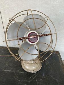 "Clean Working Vintage Art Deco Machine Age Westinghouse Electric Fan 10"" Blade"