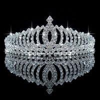Silver Bridal Tiara Rhinestone Crystal Prom Wedding Quinceanera Pageant Crown US