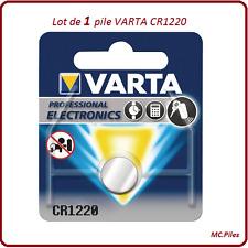 Lot 1 pile bouton CR1220 3V lithium Varta, livraison rapide et gratuite