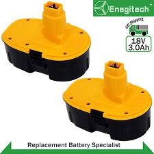 2 Pcs 18 volt 3000mAh Replacement Battery for Dewalt XRP DC9096 DC9099 Pod-Style