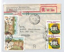 CA31 1985 Madagascar *Antsirabe* Registered Air Cover MISSIONARY VEHICLE FLOWERS