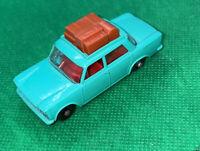 Matchbox Lesney 56 Fiat 1500 Green Die-Cast Car W Luggage!