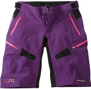 Madison Zena DWR, womans, mounatin bike, cycling shorts, Imperial Purple.