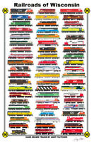 "Railroads of Wisconsin 11""x17"" Railroad Poster by Andy Fletcher signed"